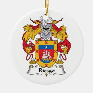 Escudo de la familia de Riesgo Adorno Navideño Redondo De Cerámica