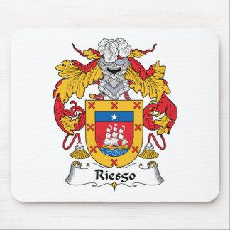 Escudo de la familia de Riesgo Alfombrillas De Ratón