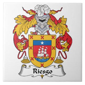 Escudo de la familia de Riesgo Azulejo Cuadrado Grande