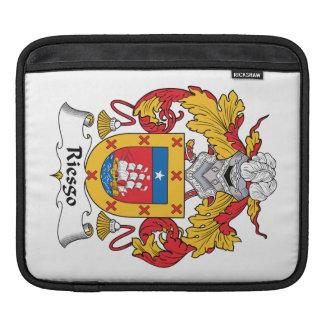 Escudo de la familia de Riesgo Fundas Para iPads