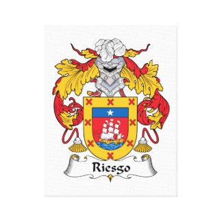 Escudo de la familia de Riesgo Impresión En Lienzo Estirada