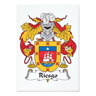 """Escudo de la familia de Riesgo Invitación 5"""" X 7"""""""