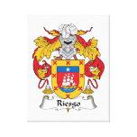 Escudo de la familia de Riesgo Lienzo Envuelto Para Galerías