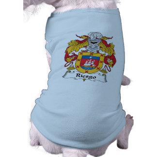 Escudo de la familia de Riesgo Playera Sin Mangas Para Perro