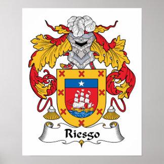 Escudo de la familia de Riesgo Póster