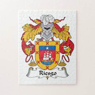 Escudo de la familia de Riesgo Rompecabeza Con Fotos