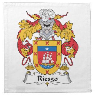 Escudo de la familia de Riesgo Servilletas Imprimidas