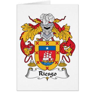 Escudo de la familia de Riesgo Tarjeta De Felicitación