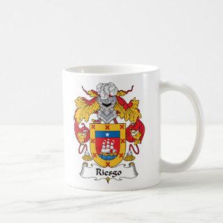 Escudo de la familia de Riesgo Taza Clásica