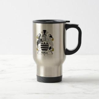 Escudo de la familia de Riffett Tazas De Café