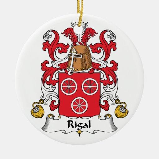 Escudo de la familia de Rigal Adornos