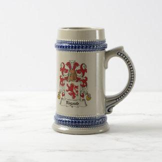 Escudo de la familia de Rigaud Tazas De Café