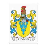 Escudo de la familia de Rigdon Impresion De Lienzo