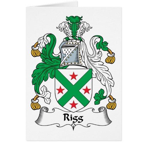 Escudo de la familia de Rigg Tarjeta De Felicitación