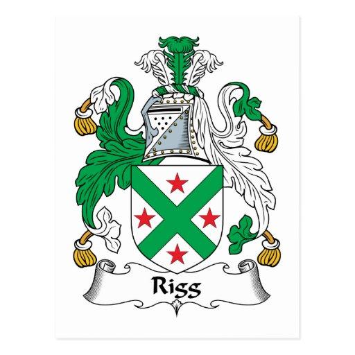 Escudo de la familia de Rigg Tarjeta Postal