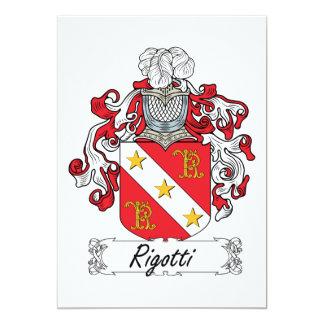 """Escudo de la familia de Rigotti Invitación 5"""" X 7"""""""
