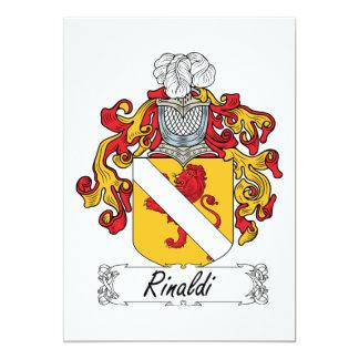 """Escudo de la familia de Rinaldi Invitación 5"""" X 7"""""""