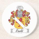 Escudo de la familia de Rinaldi Posavasos Personalizados