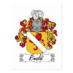 Escudo de la familia de Rinaldi Tarjeta Postal