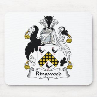 Escudo de la familia de Ringwood Tapetes De Ratones