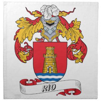 Escudo de la familia de Río Servilleta Imprimida
