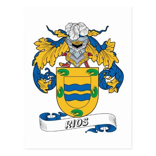 Escudo de la familia de Rios Tarjetas Postales