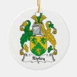 Escudo de la familia de Ripley Adornos De Navidad
