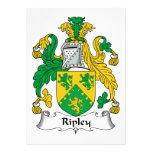 Escudo de la familia de Ripley Invitacion Personalizada