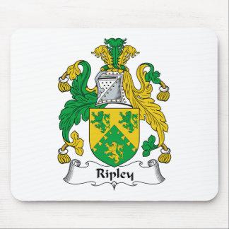 Escudo de la familia de Ripley Tapetes De Ratones