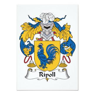 """Escudo de la familia de Ripoll Invitación 5"""" X 7"""""""