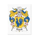 Escudo de la familia de Ripoll Impresión En Lona Estirada