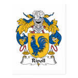 Escudo de la familia de Ripoll Postal