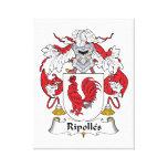 Escudo de la familia de Ripolles Lona Envuelta Para Galerias