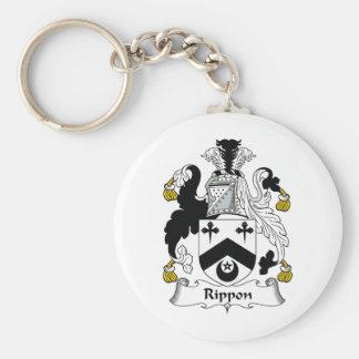Escudo de la familia de Rippon Llavero Redondo Tipo Pin