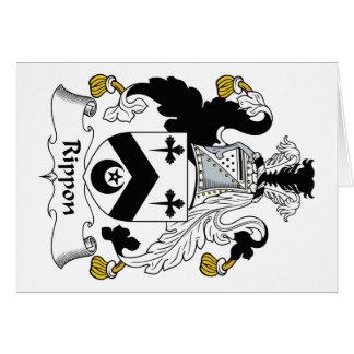 Escudo de la familia de Rippon Tarjeta De Felicitación