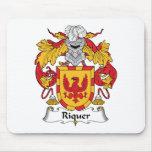 Escudo de la familia de Riquer Alfombrillas De Ratones