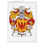 Escudo de la familia de Riquer Tarjeton