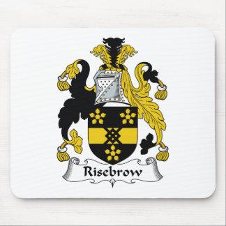 Escudo de la familia de Risebrow Alfombrillas De Ratón