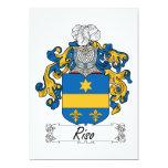 Escudo de la familia de Riso Invitación 12,7 X 17,8 Cm