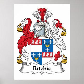 Escudo de la familia de Ritchie Póster