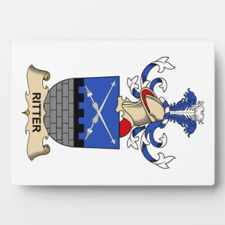 Escudo de la familia de Ritter Placa De Plastico