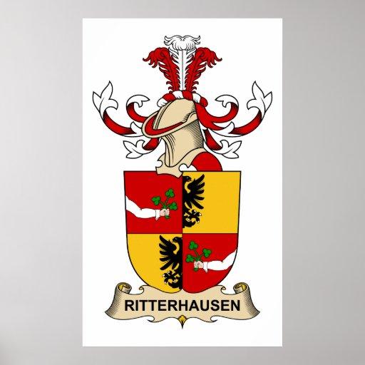 Escudo de la familia de Rittershausen Posters