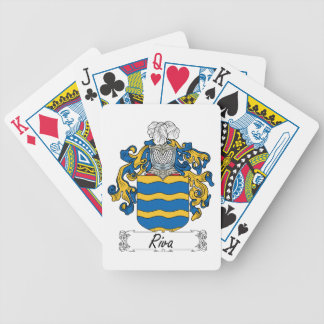Escudo de la familia de Riva Baraja Cartas De Poker