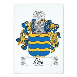 Escudo de la familia de Riva Invitación 12,7 X 17,8 Cm
