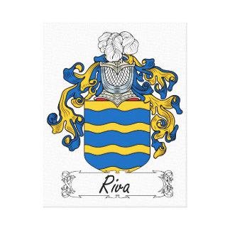 Escudo de la familia de Riva Lona Envuelta Para Galerias