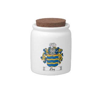 Escudo de la familia de Riva Plato Para Caramelo
