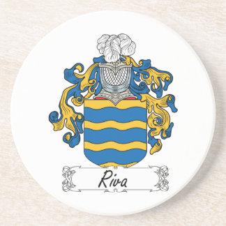 Escudo de la familia de Riva Posavasos Diseño
