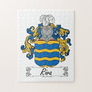 Escudo de la familia de Riva Rompecabezas Con Fotos