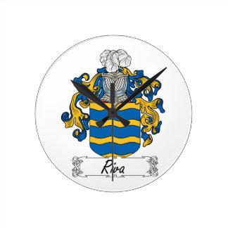 Escudo de la familia de Riva Reloj De Pared