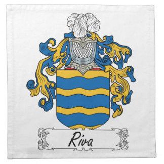 Escudo de la familia de Riva Servilletas De Papel